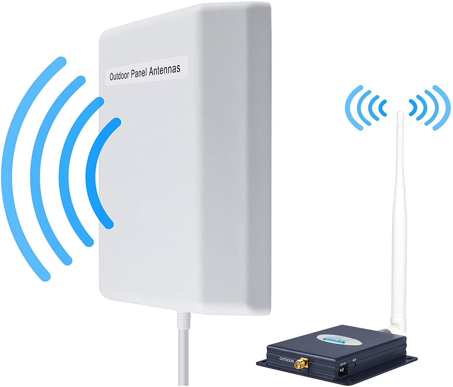 Signal Booster Verizon 4G LTE Cell Phone Signal Booster Indoor 65dB Verizon Cell Phone Booster FDD 700Mhz HJCINTL Band13 High Gain Mobile Phone Signal Booster Repeater for Home