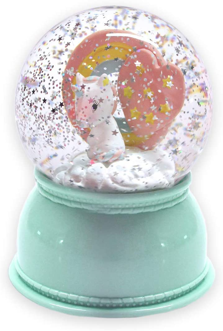 DJECO Sweet Girl Snow Globe Night Light, Unicorn