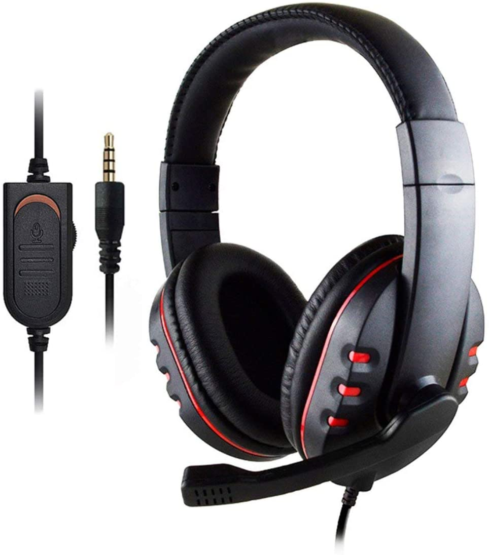 Headphones 1 Pcs Subwoofer 3.5Mm Audio Gaming Headphone Headband with Mic Stereo Bass Game Playing Headset