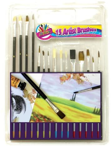 Artbox Wooden Handle Paint Brush (Pack of 15)