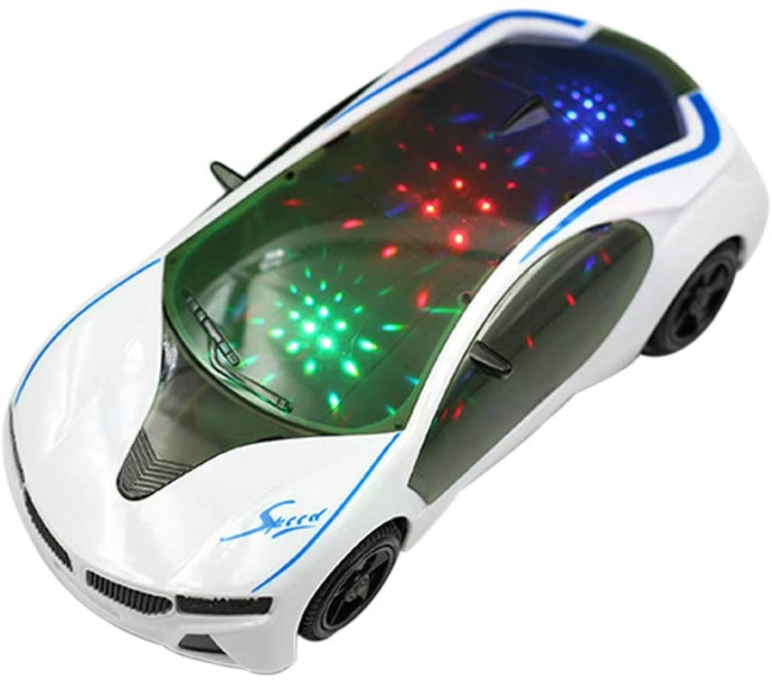 Intelligence Toys Great 3D Supercar Style Electric Toy with Wheel Lights Music Singing Kids Boys Girls Gift Electric Universal(As Show) (Color : As Show)