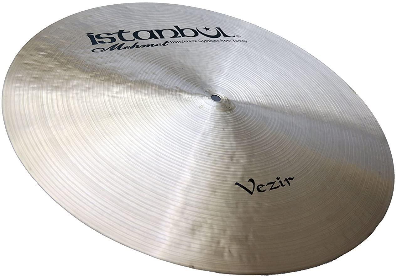 Istanbul Mehmet Cymbals Custom Series RVF-SZ19 19-Inch Vezir Flat Ride Sizzle Cymbal