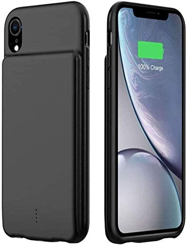 KERTER Battery Case for iPhone Xs Max, [5000mAh] Rechargeable Portable Battery Charging Case,Ultra Slim Extended Charger Case Protective External Backup Power Bank Case for iPhone Xs Max - Black