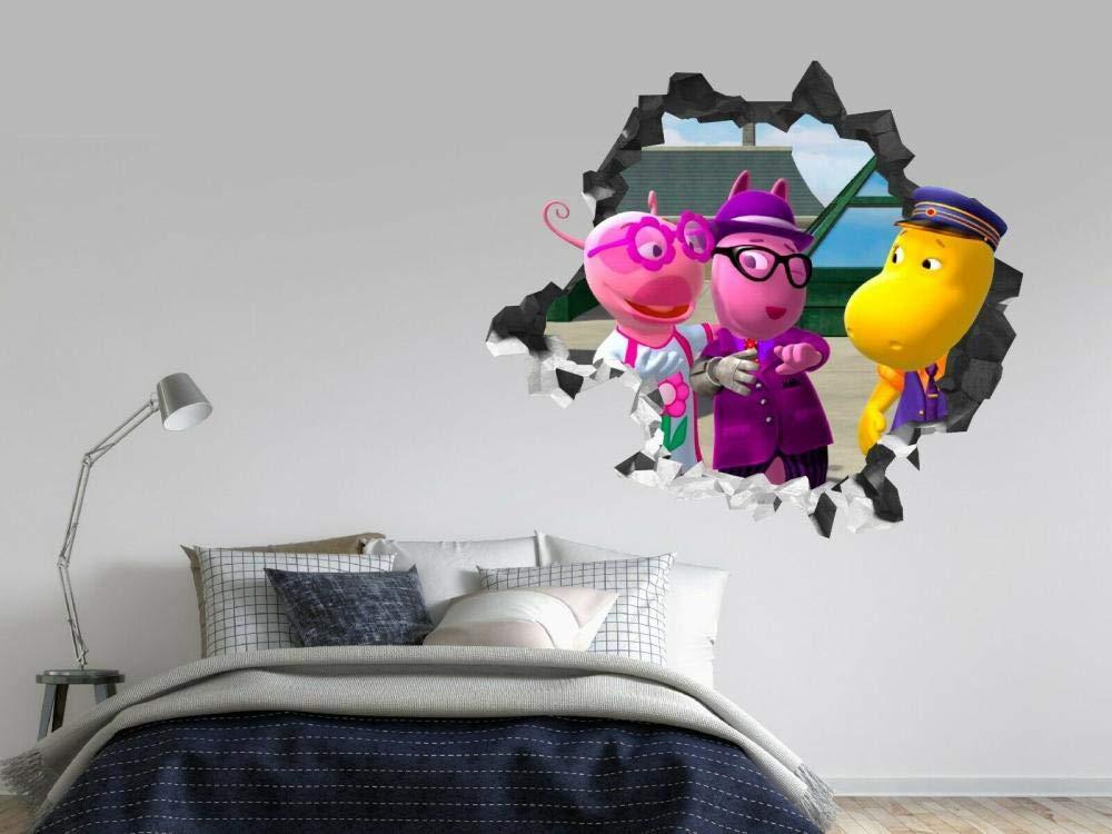 Garden Pirate Smashing Wall Decal Kids 3D Stickers Decoration Vinyl Art