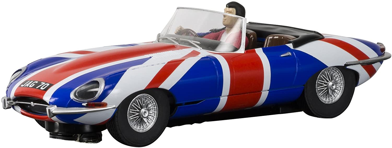 Scalextric Jaguar E Type Union Jack 1:32 Slot Race Car C3878