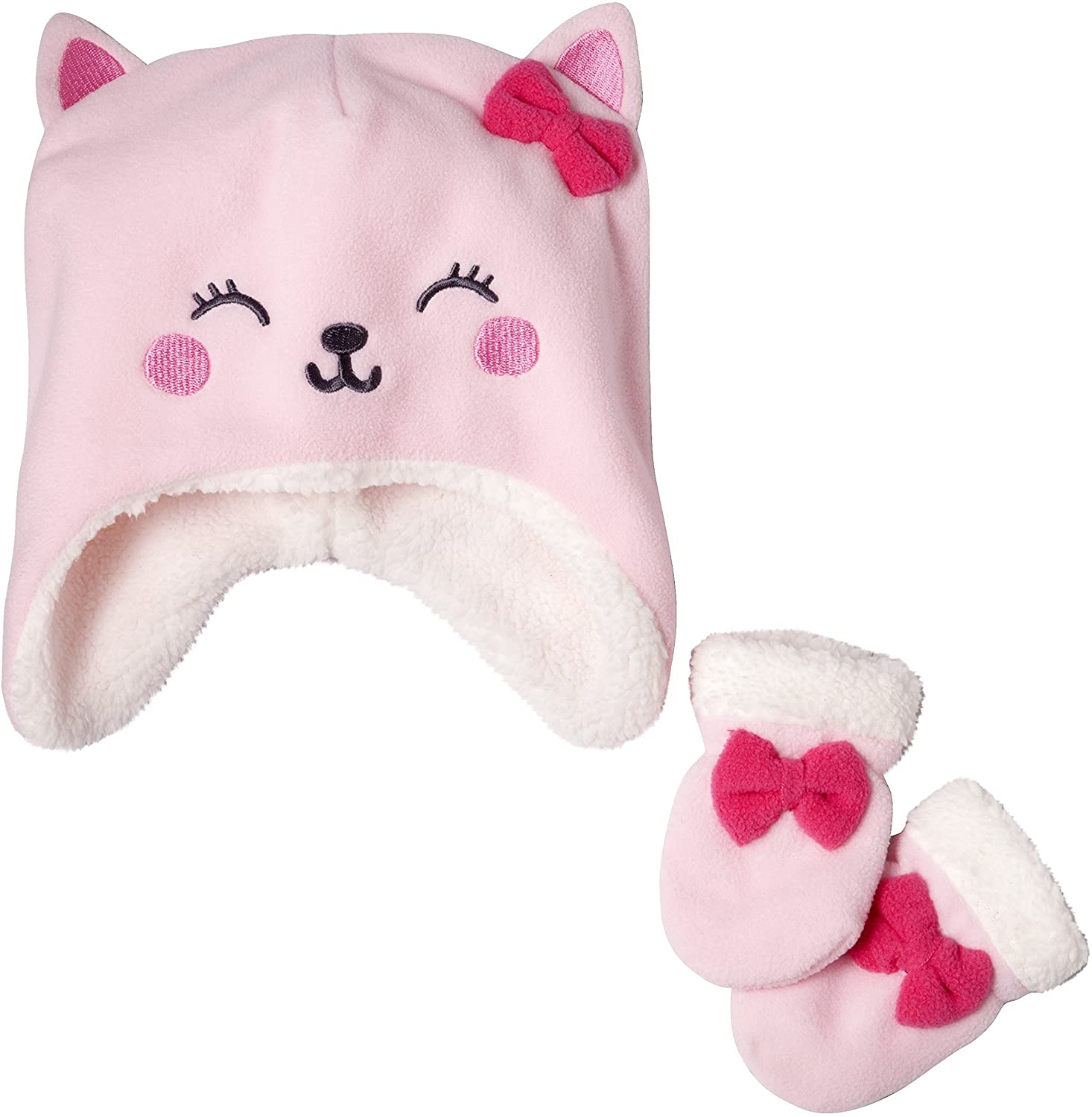 Carter's Just One You Baby Fleece Hat and Mitten Set - Kitty