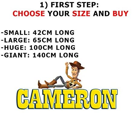 Custom Personalized Any Name Toy Story Decal Wall Sticker for Kids WP29, Large