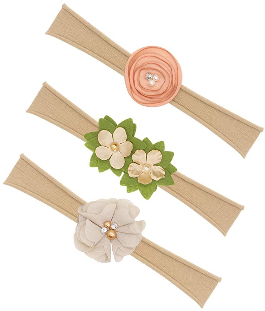 Baby Girl Headbands, Baby Girl Floral Headbands Set - 3 pcs Flower Crown Newborn Toddler Hair Accessories, Headband Gift Set