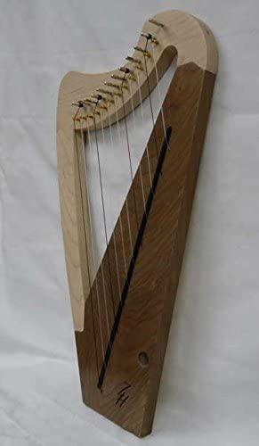 Zither Heaven - 12-String Lap Harp - Maple & Black Walnut