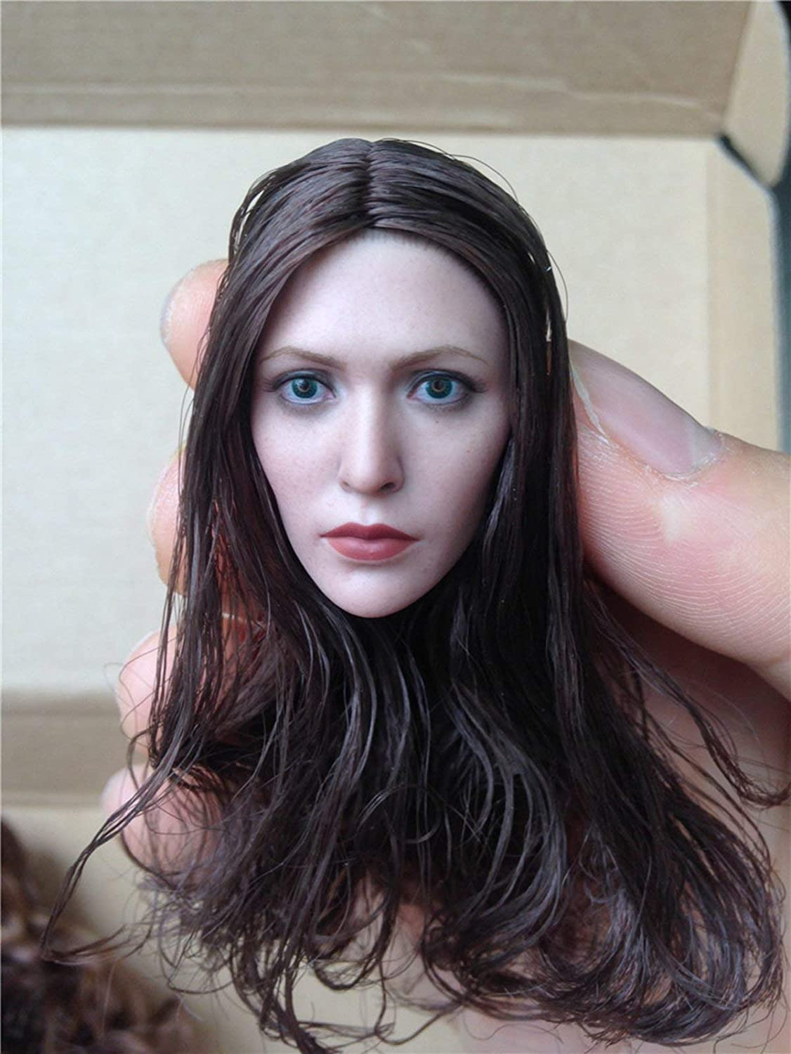 ZSMD Witch Head 1/6 Scale Female Carving Action Figure Head Sculpt Planted Hair Head Movie Star Eurpon