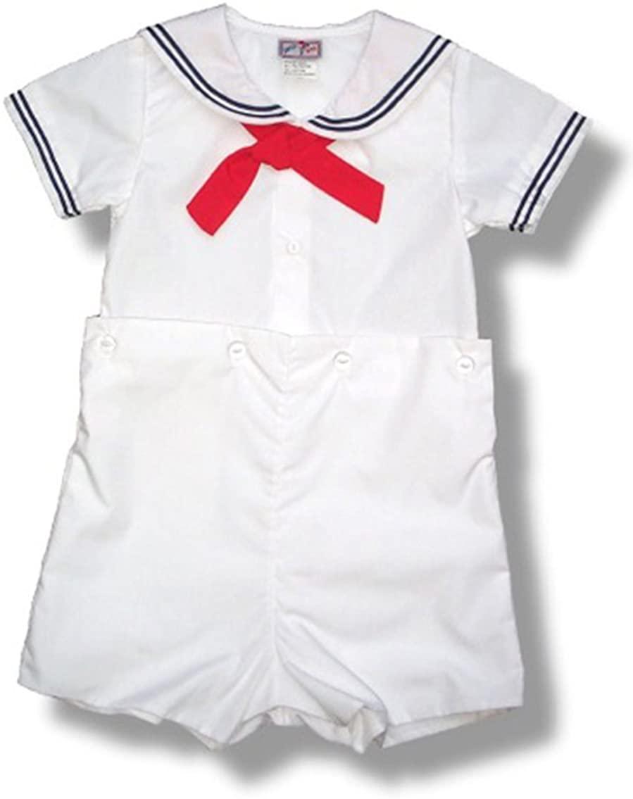 Petit Ami Boys Sailor Short Set White Infant Sizes