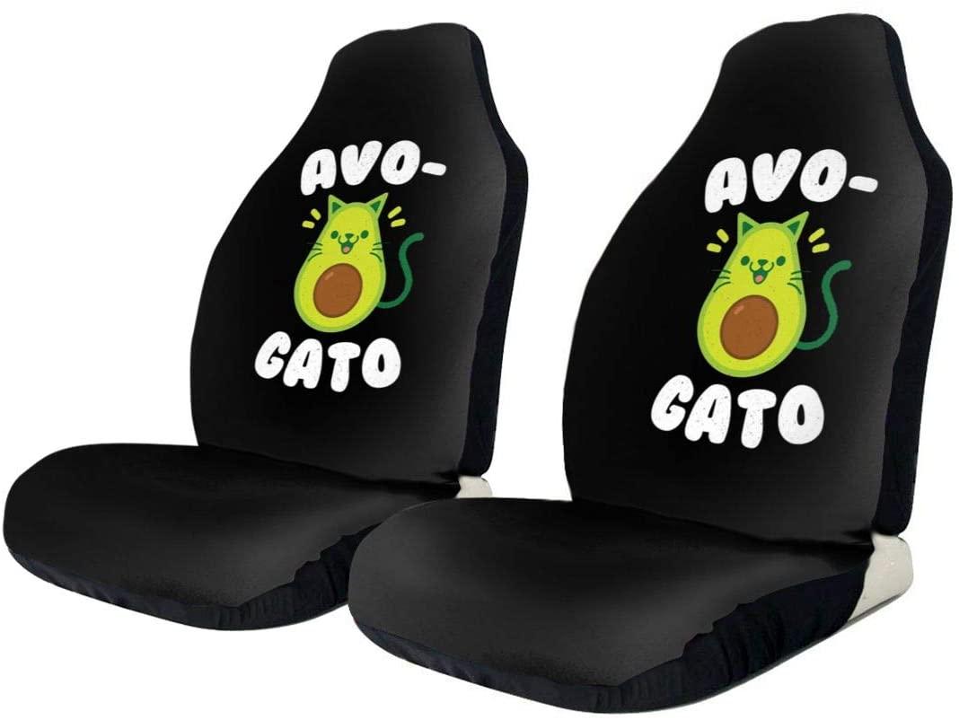 KLQ Cute Avocado Cat Car Seat Cover Saddle Blanket Seat Pad Protectors