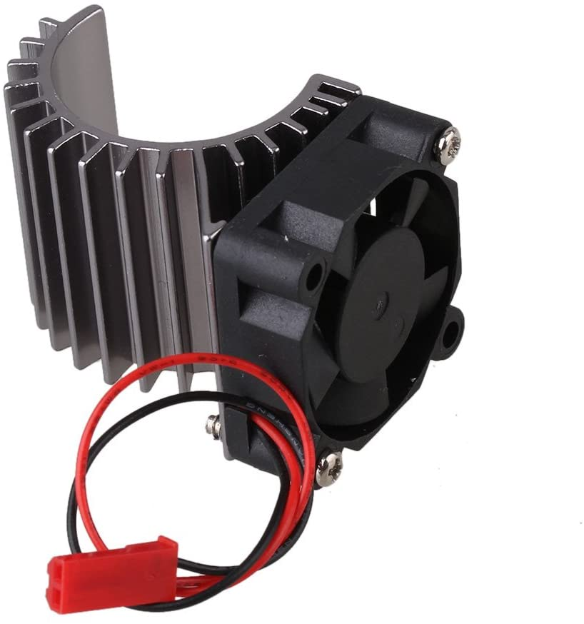 Mxfans 308005 Titanium Color Aluminum Alloy 380 Motor heatsink with Fan for RC 1:16 Car Motor Heat Sink