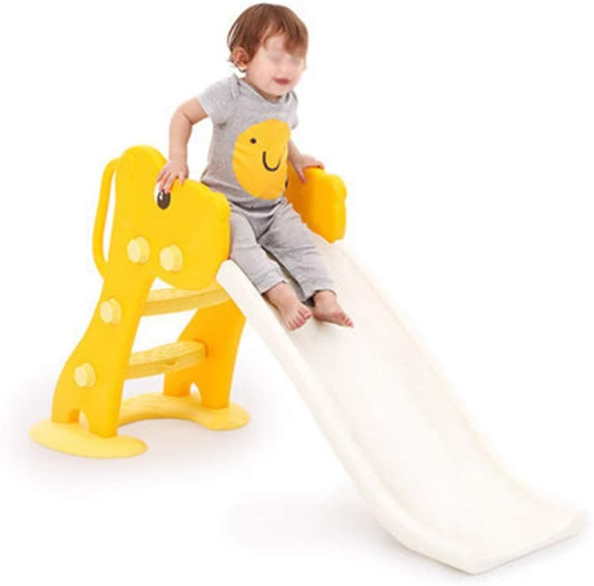 Monkibag-toy Combination Slide Multi-Function Indoor Toddler Play Foldable Family Slide Playground Easy to Set Up,Ideal Gift for Children Ages 1-10 (Color : Yellow, Size : 135.5x30x70cm)