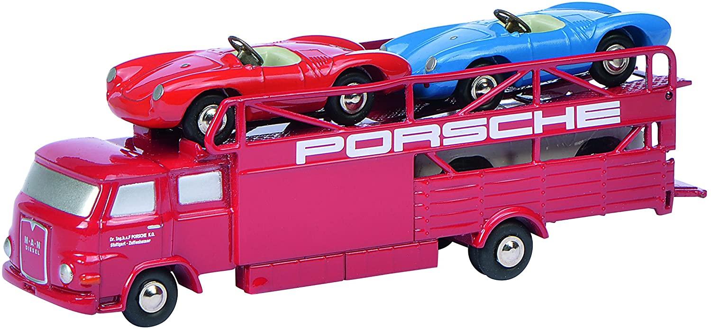 Schuco Piccolo 450589600Man Racing Transporter Porsche Red