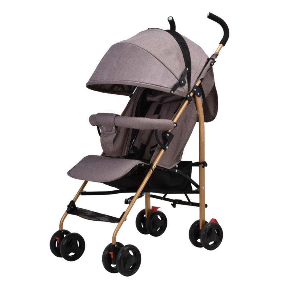 Umbrella Stroller Infant Car, Rotary Wheels Washable Reclining Seat Portable Travel Comfortable 5 Point Harness All Terrain -Gray 107x61x48cm(42x24x19inch)