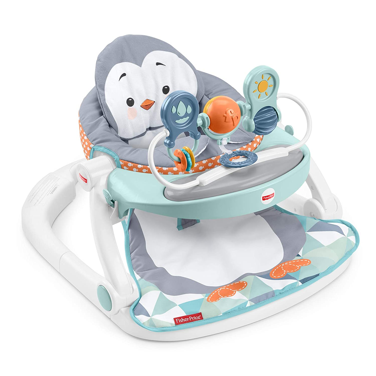 Fisher-Price Sit-Me-Up Floor Seat with Tray - Penguin Island