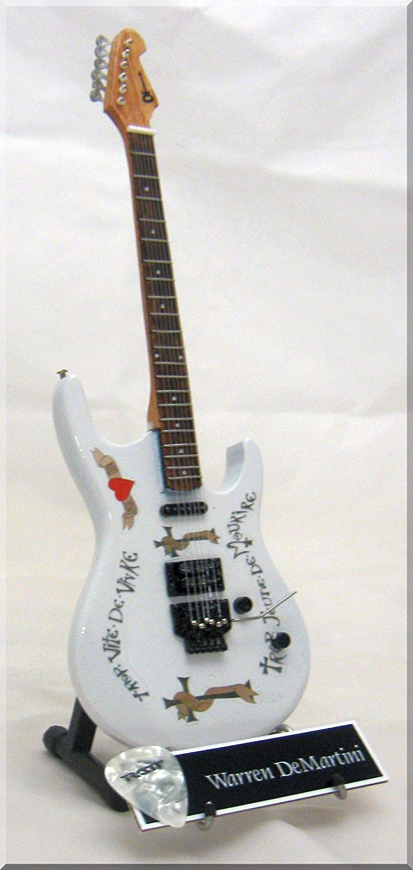 WARREN DeMARTINI Miniature Guitar Charvel RATT w/Guitar Pick
