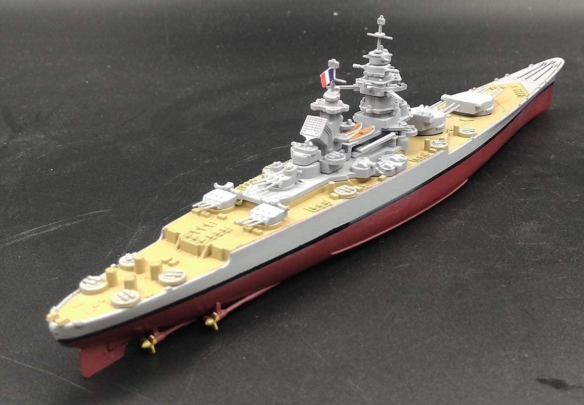 WWII French Battleship Richelieu 1/1000 diecast Model Ship