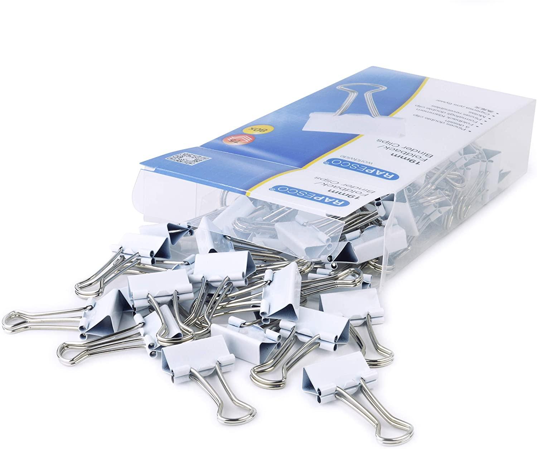 Rapesco 1493 19 mm Foldback/Binder Clips, White