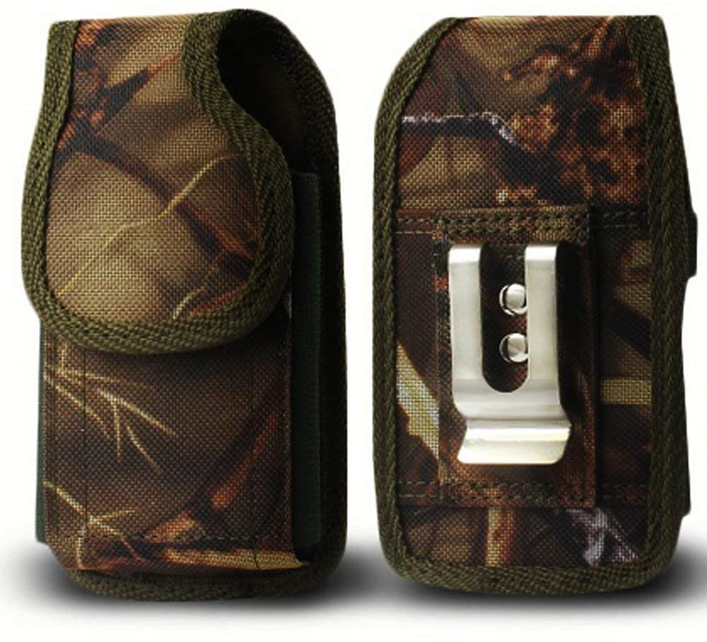 Golden Sheeps Military Grade Heavy Duty Holster Nylon Metal Clip Compatible with Kyocera Cadence S2720, DuraXTP,DuraXV LTE,DuraXV Plus,DuraXE,Large FLIP Phones & Insulin Pumps[4.4