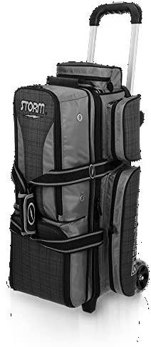Storm 3 Ball Rolling Thunder Bowling Bag Plaid/Gray/Black Charcoal/Plaid/Black