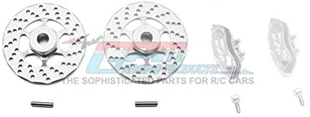 Traxxas Ford GT 4-Tec 2.0 (83056-4) Upgrade Parts Aluminum Front Or Rear Brake Disk + Brake Caliper - 4Pc Set Silver