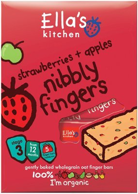 Ella's Kitchen Nibbly Fingers, Strawberries and Apples, 4.4-Ounce (Pack of 4)