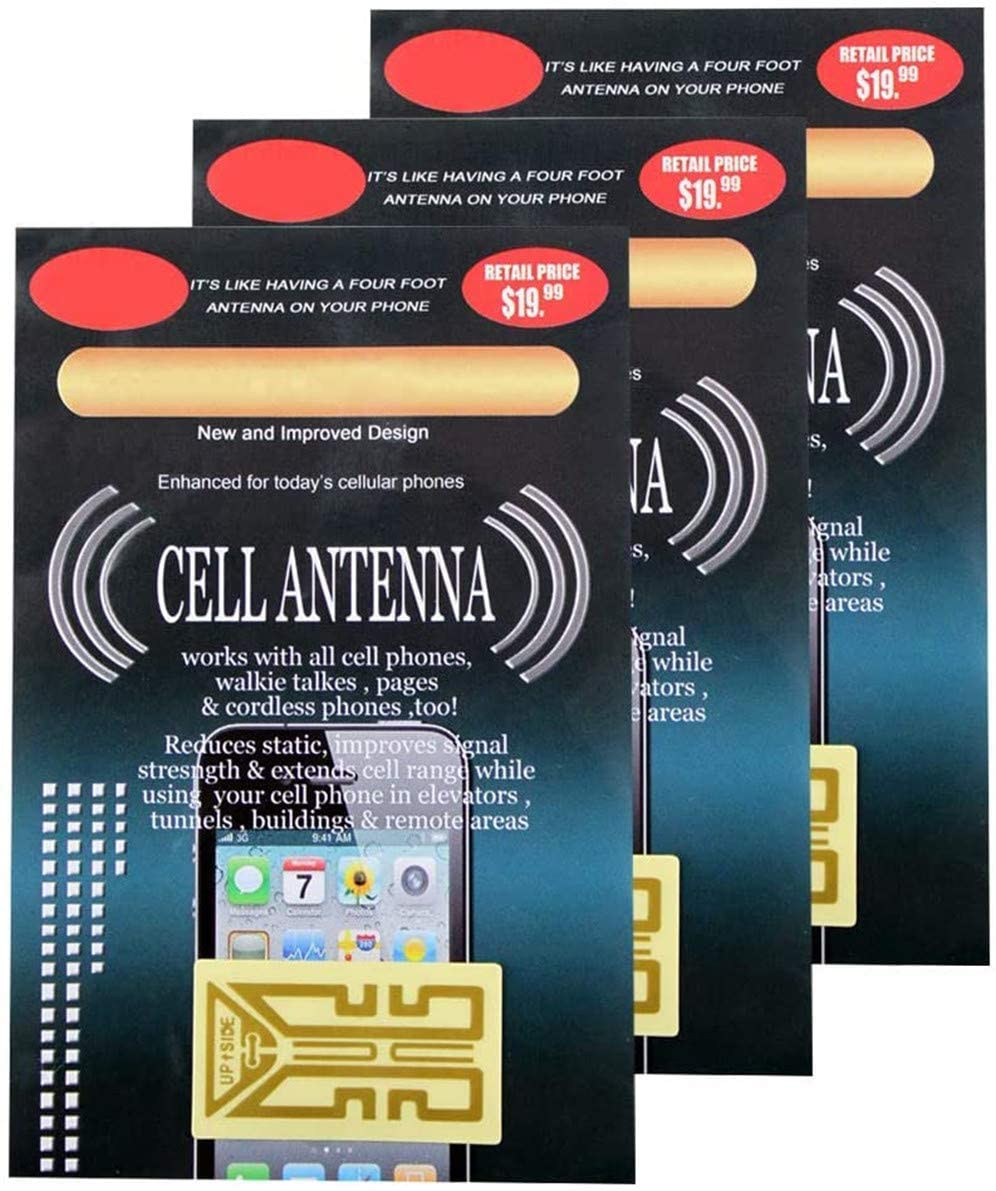 HPZHANG Cell Phone Signal Booster Stickers, Phone Internal Antenna Signal Reception Booster, Works on Any Analog, Digital and Tri-Band Phones, Booster Your Signal in Travelling, Mountaineering