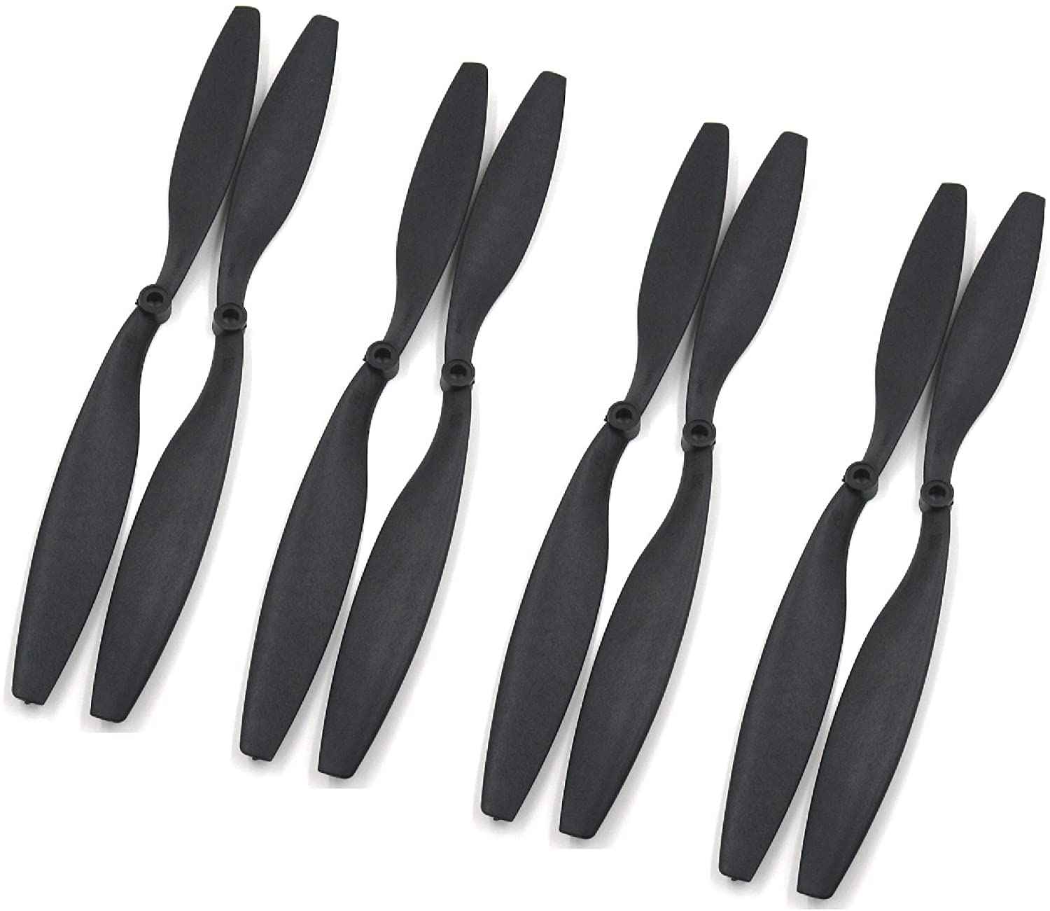 RAYCorp 1245 12x4.5 Propellers. 8 Pieces(4 CW, 4 CCW) Black 12-inch Quadcopter + Battery Strap