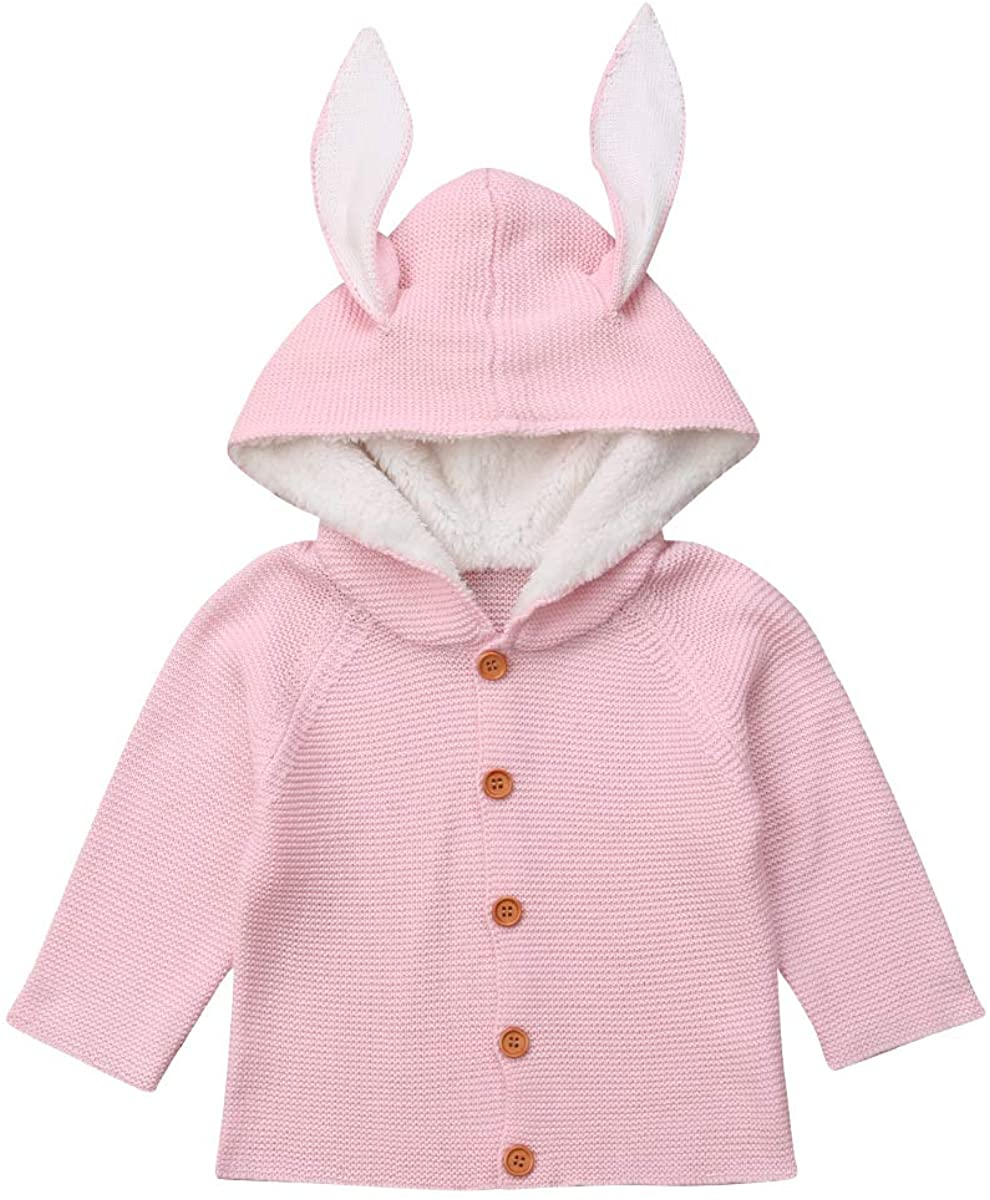 One opening Baby Boy Girl Cardigan Sweater Cute Ear Knitted Coat Kids Girl Warm Sweater Outerwear Toddler Baby Jacket