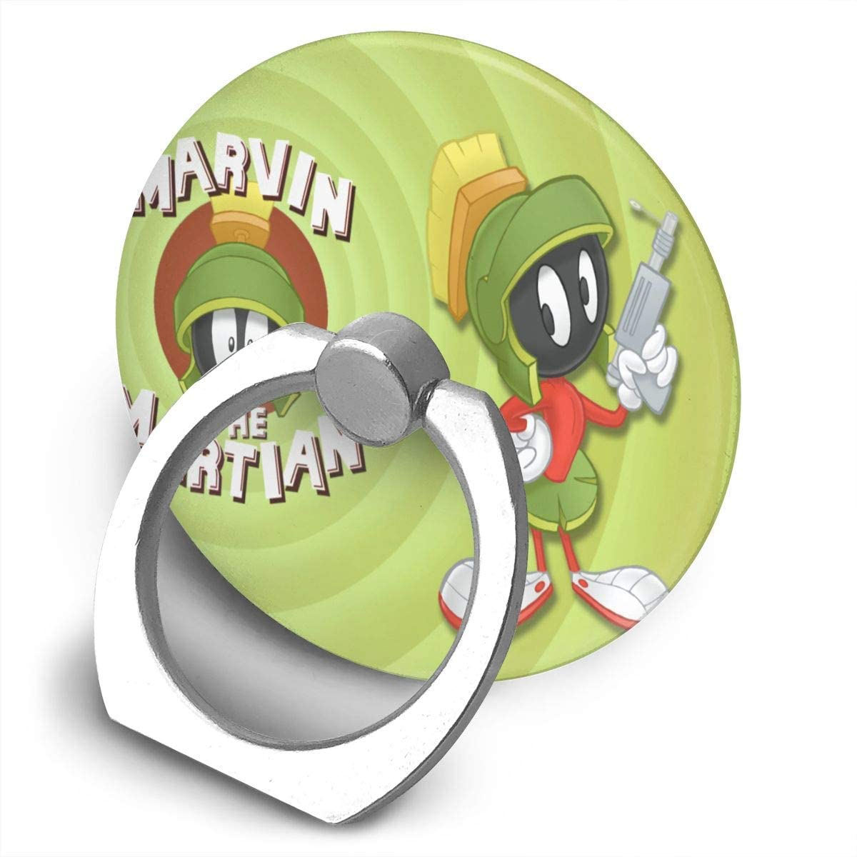 Martian Marvin Looney Tunes Phone Ring Cell Phone Ring Holder Finger Kickstand,360 Degree Rotation Stand Grip with Car Mount Compatible with All Smartphone-Life is an Adventure