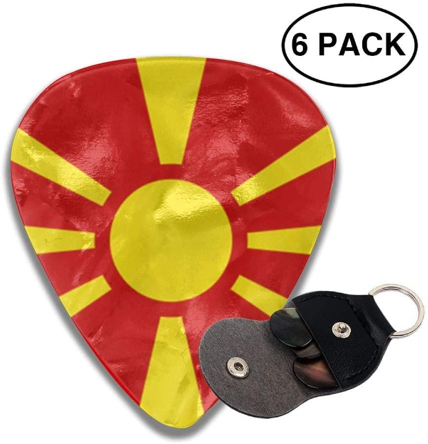 Game Life Macedonia Flag Guitar Picks Plectrums Middle Finger Classic Celluloid Bass Ukulele