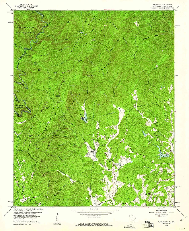 Map Print - Tamassee, South Carolina (1959), 1:24000 Scale - 24