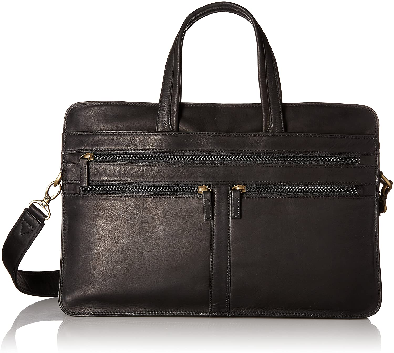 Derek Alexander Leather Business Case, Black, One Size