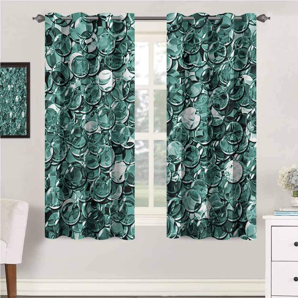 Pearls Nursery & Infant Care Curtains Crystal Clear Balls Coins Pattern Never Ending Liquid Objects Monochrome Design Print Curtains for Baby Nursery Room 63
