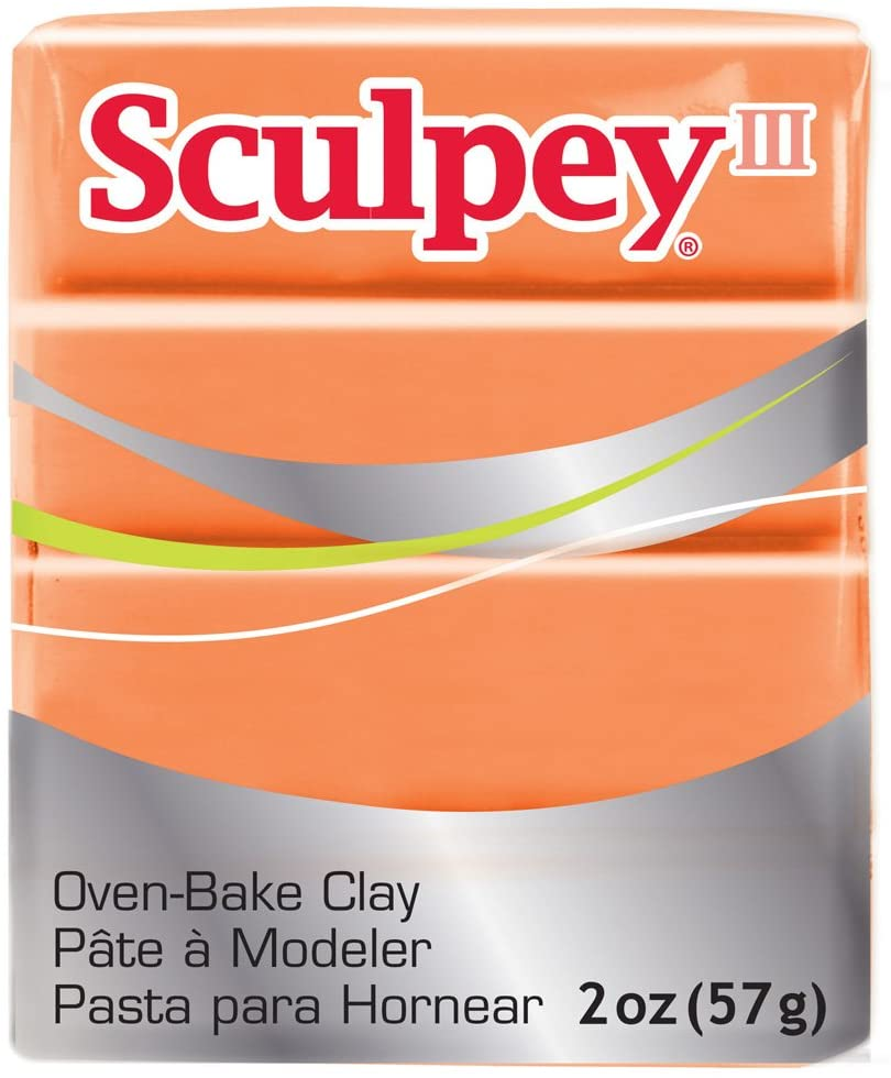 Polyform Sculpey III Polymer Clay, 2-Ounce, Just Orange