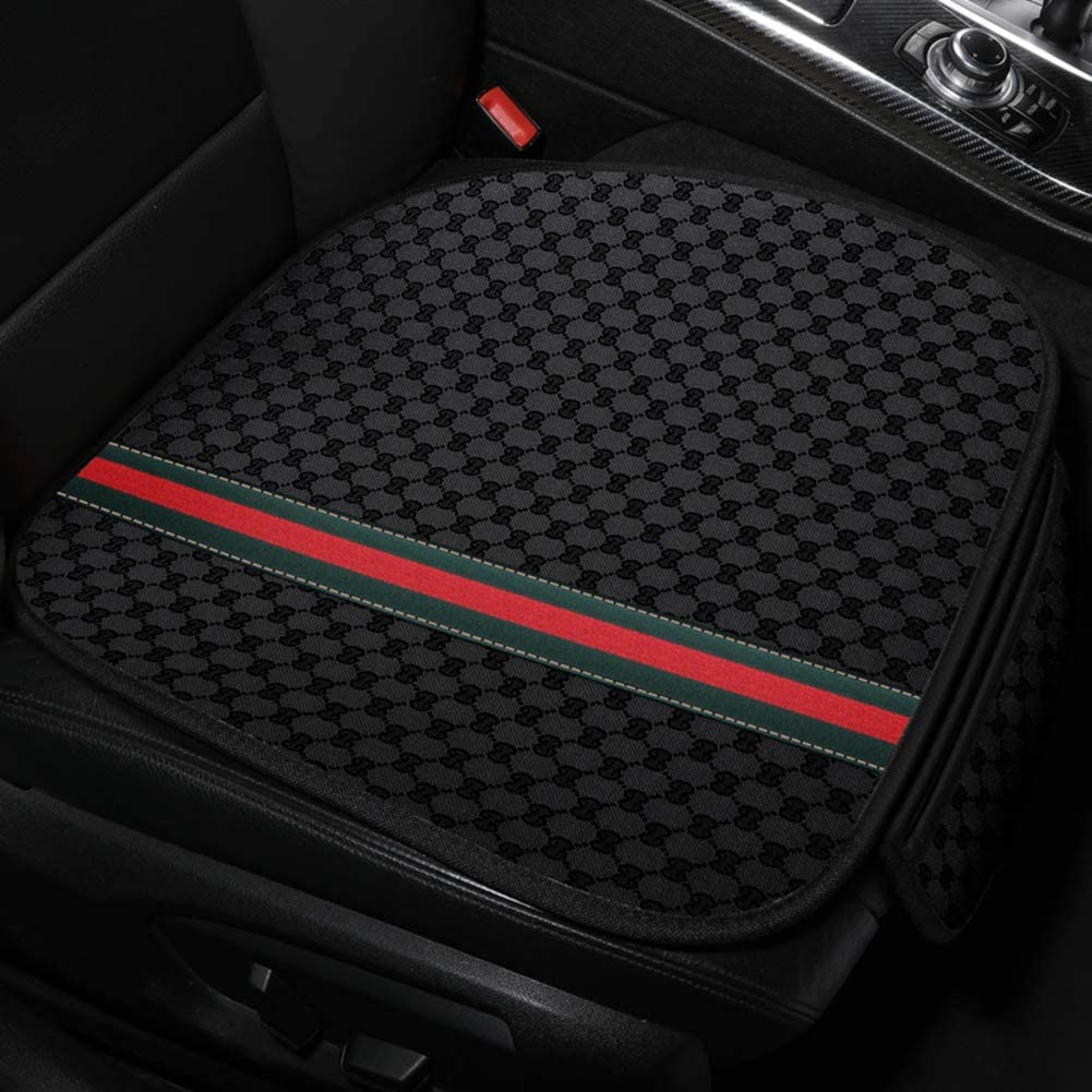 PLLXY Car Seat Cushion Front seat,Non-Skid Car Seat Cover Comfortable Ventilation Reduce Pressure of Buttocks Improves Posture-D 51x50cm(20x20inch)