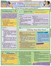 SAT Tips: Verbal Quick Study Guide by BarCharts