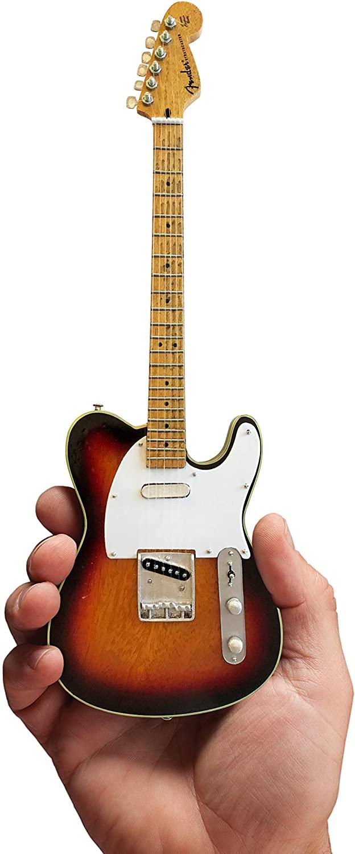 Mini Guitar Eric Clapton Blind Faith Collectible Signature Vintage Sunburst Fender Telecaster