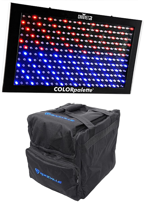 Chauvet DJ ColorPalette Panel Stage Wash Light, DMX Controls+Bag Color Palette