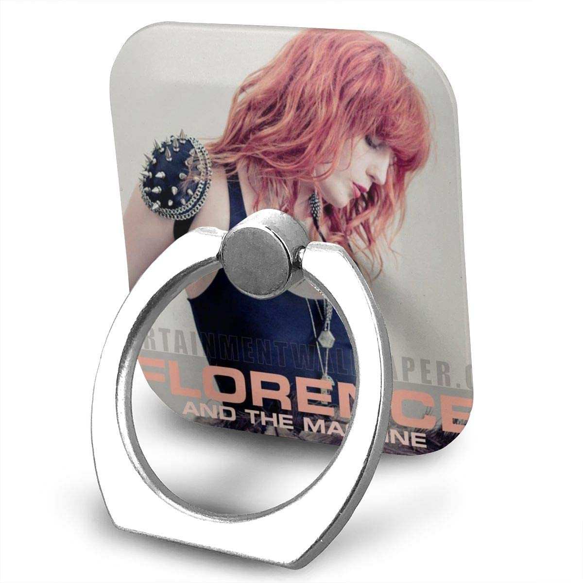 Florence and The Machine Phone Holder Smartphone Grip Stand Holder 360 Degree Rotating Sticky Finger Ring