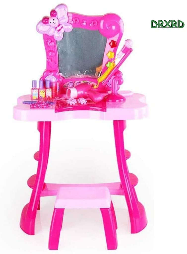 DRXRD Children's Interesting Toy Girl Princess Toy Vanity Set Home Princess Dressing Table Best Birthday Choice 0219