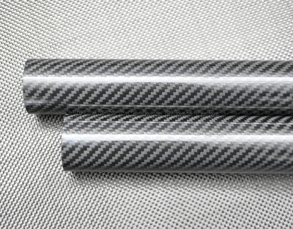 WHABEST OD 14mm - ID 13mm Langth 500mm Glossy 100% Full Carbon Composite Material/ 3k Carbon Fiber Tubes/Pipes. Quadcopter Hexacopter. RC Plane/RC DIY Helicopter. (1pcs 14x13x500mm Glossy)