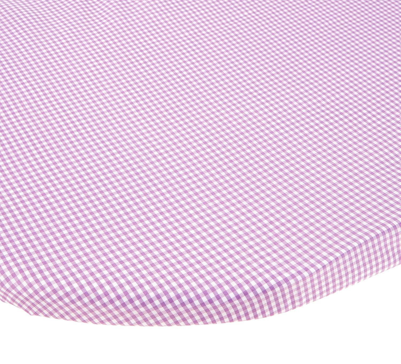 BabyDoll Gingham Moses Basket Sheet, Lavender, 14