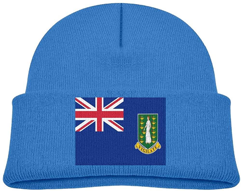 lead-do Baby Boys Girls Flag of The British Virgin Islands Kint Beanie Hats Toddler & Kids Winter Warm Kinted Caps(2-6T)