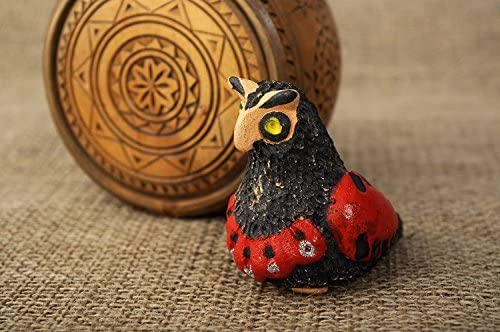 Penny whistle handmade ceramic ocarina in the form of owl hand work musical instrument