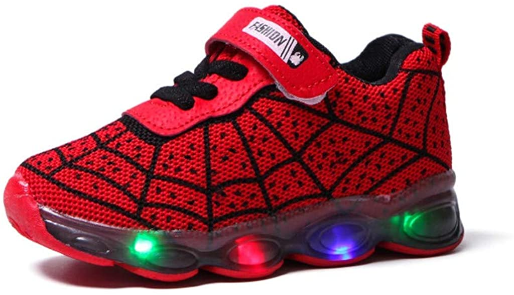 LED Light Up Baby Kids Shoes 1-12T Sameno Luminous Jelly Running Sneakers Walking Trainers Gift for Toddler Boys Girls
