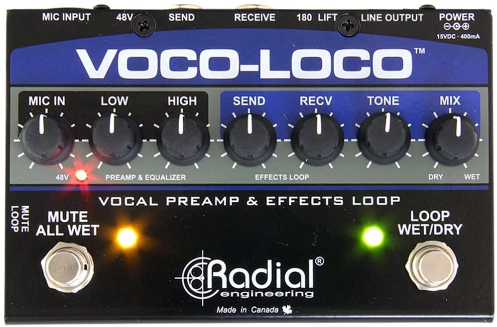 Radial Engineering Voco-Loco Vocal Preamp and Effect Switcher