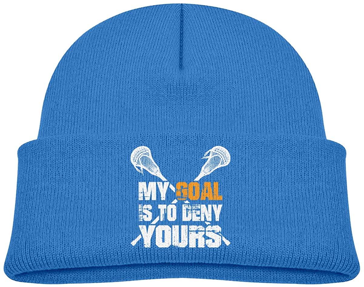 Toddler's Beanie Lacrosse Goal Cuffed Knit Hat Skull Cap